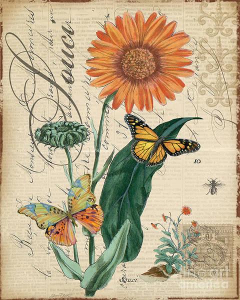 French Botanical-souci Art Print