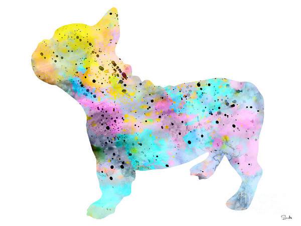 French Bulldog Painting - French Bulldog 4 by Watercolor Girl