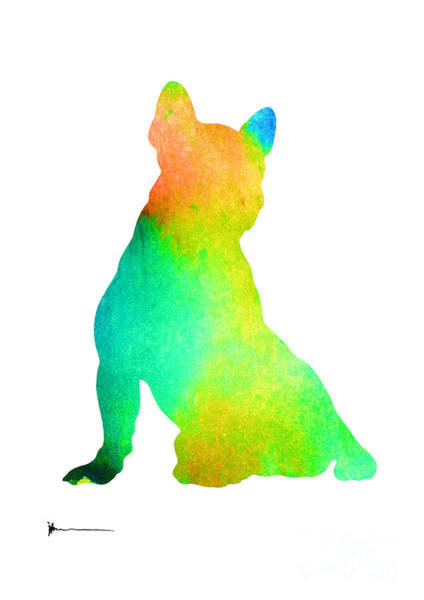French Bulldog Painting - French Bulldog Image Art Silhouette by Joanna Szmerdt