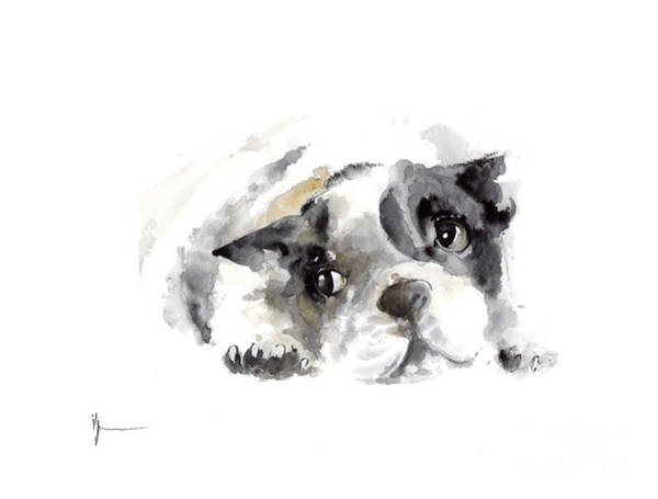 French Bulldog Painting - French Bulldog Original Artwork by Joanna Szmerdt