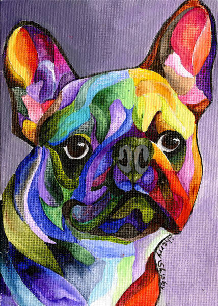 Painting - French Bulldog by Sherry Shipley