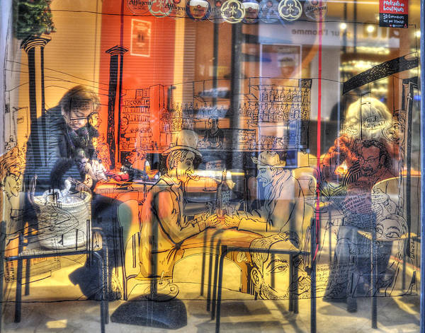 Photograph - French Cafe Life by Jean Gill