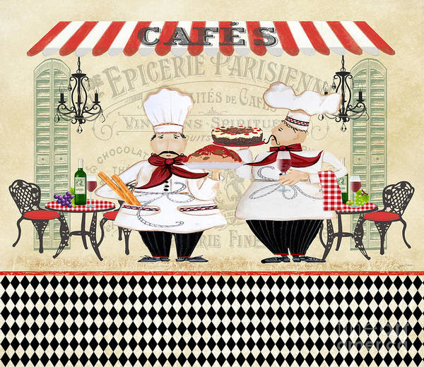 Cake Digital Art - French Chefs-jp2250 by Jean Plout