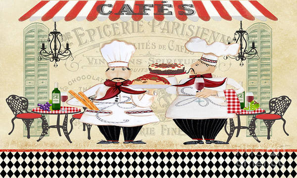 Cake Digital Art - French Chefs-jp2250b by Jean Plout