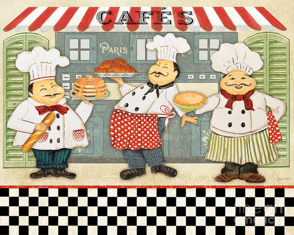 Cake Digital Art - French Chefs-jp2280 by Jean Plout