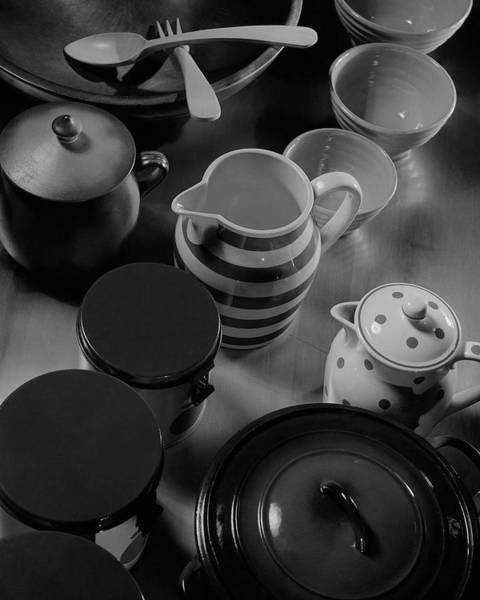 Home Accessories Photograph - French Cookware by Anton Bruehl & Fernand Bourges