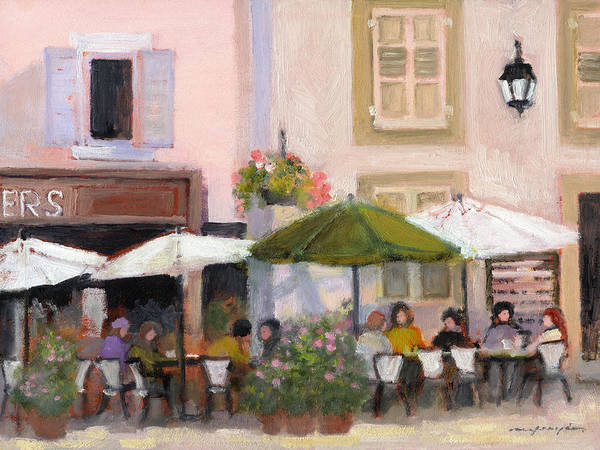 French Country Cafe Art Print