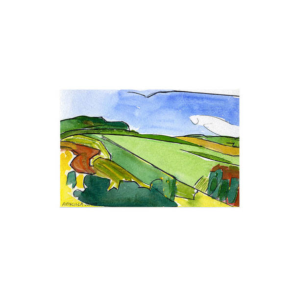 Painting - French Countryside 2 by Deborah J Humphries