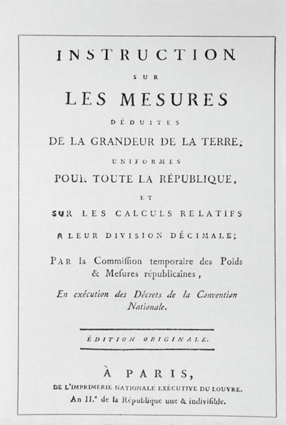 Title Page Wall Art - Photograph - French Decimalisation by Science Photo Library