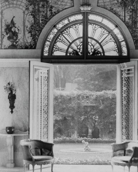 Architecture Photograph - French Doors Leading To A Garden by Matsy Wynn Richards