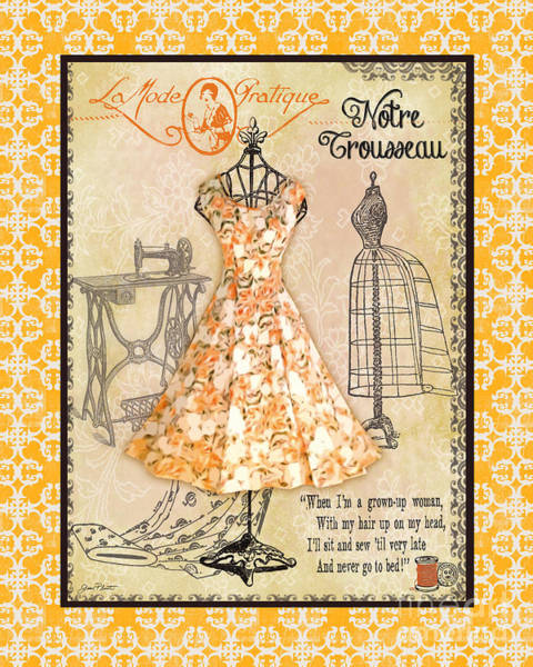 Art Form Digital Art - French Dress Shop-c1 by Jean Plout