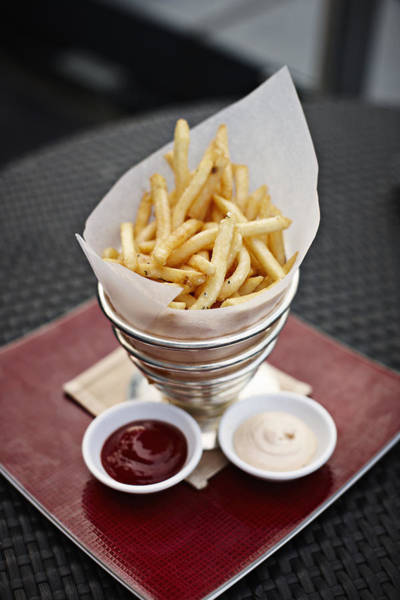 Tissue Paper Photograph - French Fries by Niels Busch