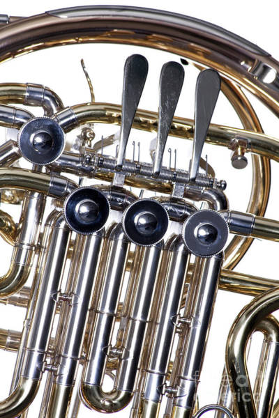 Photograph - French Horn Valves Classic Photograph In Color 3439.02 by M K Miller