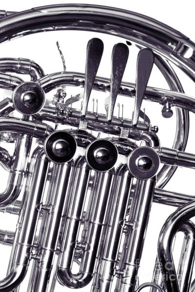 Photograph - French Horn Valves Classic Photograph In Sepia 3439.01 by M K Miller