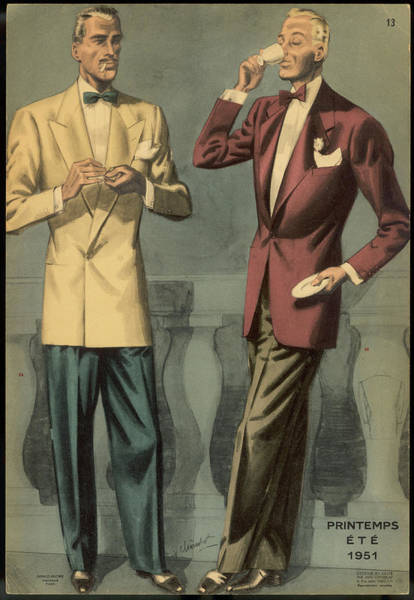 Wall Art - Drawing - French Male Style For Spring- Summer by Mary Evans Picture Library
