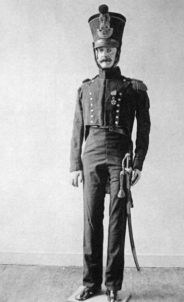 First Officer Photograph - French Officer, 1814 by Granger