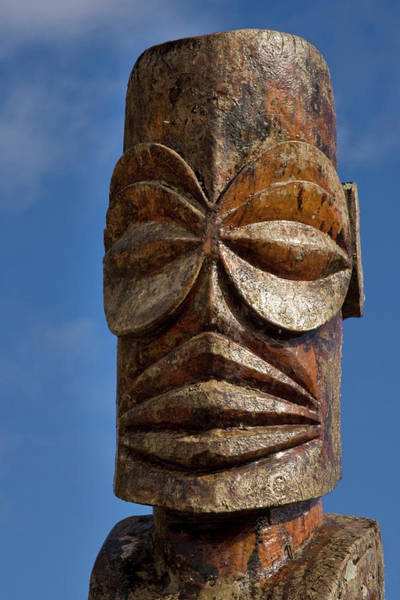 Carving Photograph - French Polynesia, Cook Islands by Jaynes Gallery