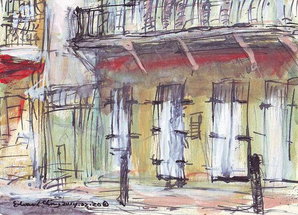 Mississippi River Drawing - French Quarter  by Edward Ching