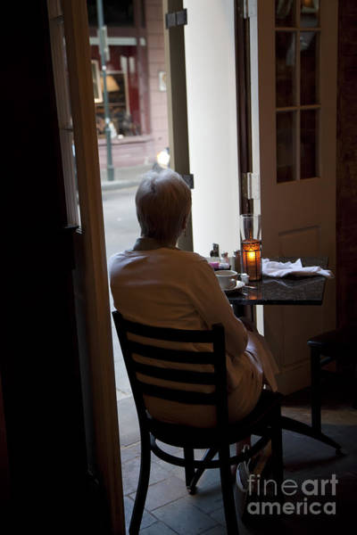 Photograph - French Quarter Restaurant by Jim West