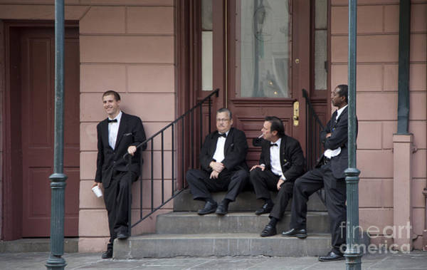 Photograph - French Quarter Waiters by Jim West