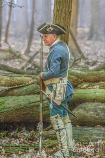 Musket Digital Art - French Soldier Loading Musket Cook Forest by Randy Steele