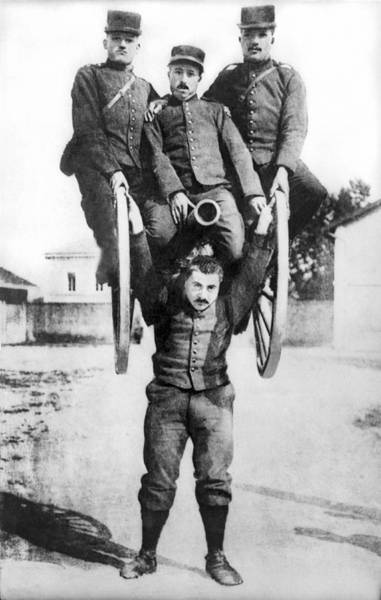 Appearance Photograph - French Strongman Lifts Cannon by Underwood Archives