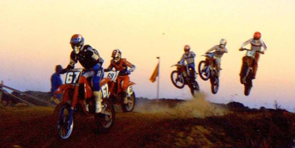 Dirtbike Photograph - French Supercross '88 by Guy Pettingell