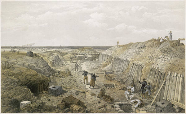Mat Drawing - French Troops Strengthening by Mary Evans Picture Library