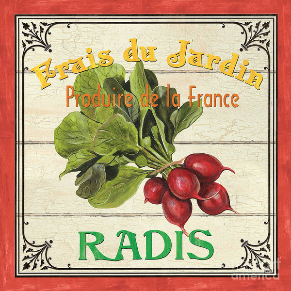 Label Painting - French Vegetable Sign 1 by Debbie DeWitt
