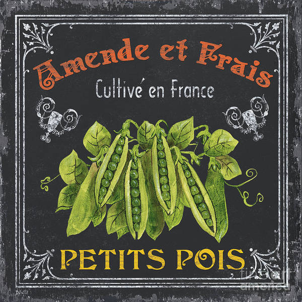 Pod Wall Art - Painting - French Vegetables 2 by Debbie DeWitt