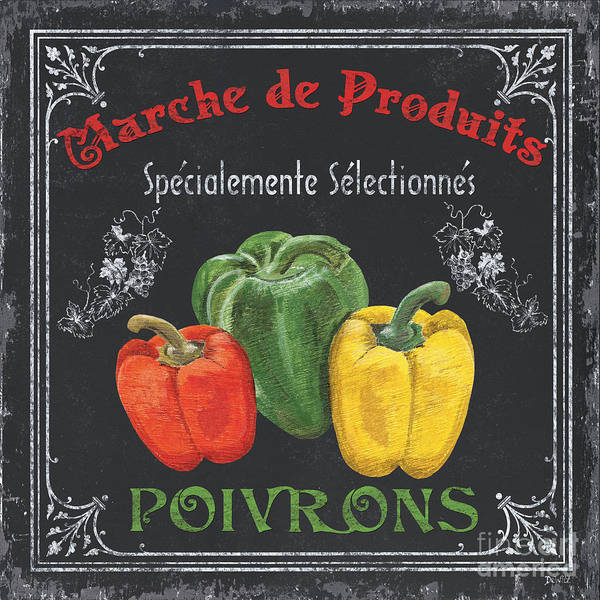 Label Painting - French Vegetables 3 by Debbie DeWitt