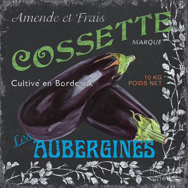 Label Painting - French Veggie Labels 4 by Debbie DeWitt