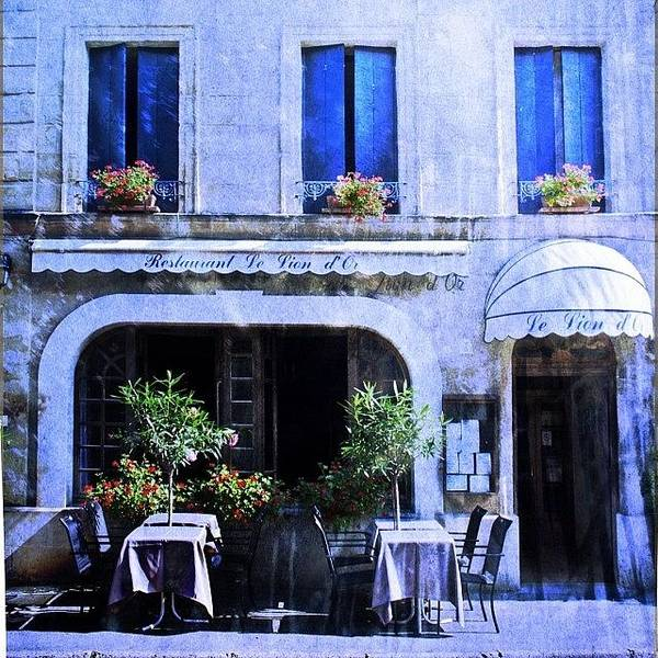 Colorful Wall Art - Photograph - #frenchhotel #frenchrestaurant by Georgia Fowler