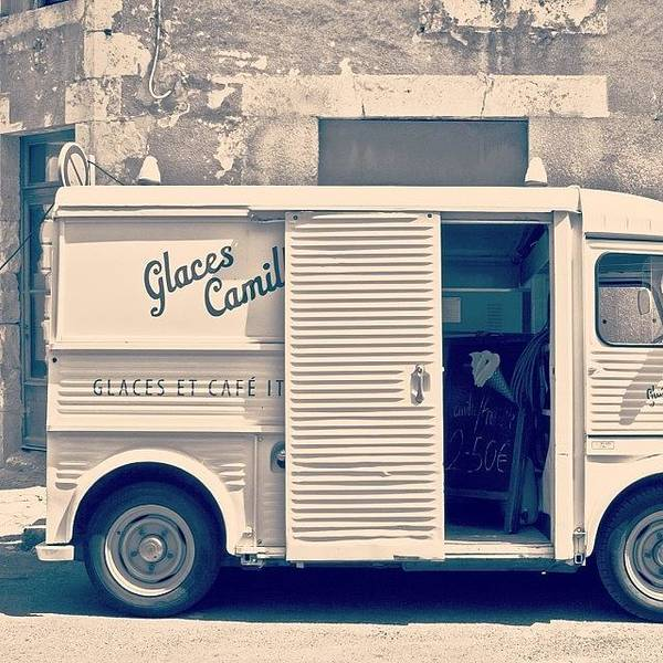 Vintage Photograph - #frenchicecreamtruck #france #icecream by Georgia Fowler