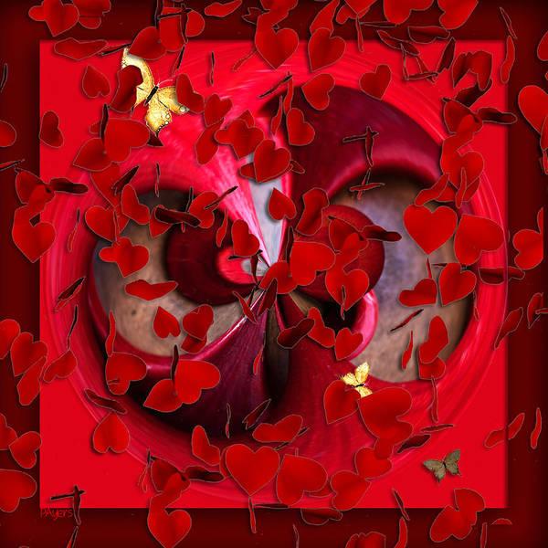 Wall Art - Mixed Media - Frenzied Hearts by Paula Ayers