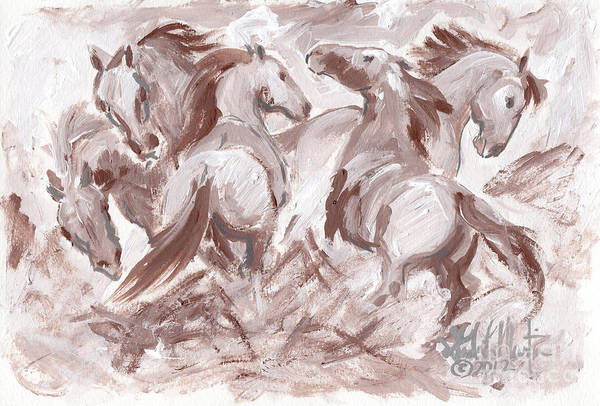 Painting - Frenzy by Linda L Martin