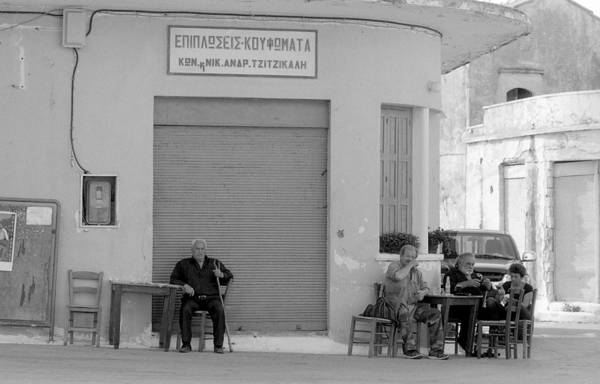 Photograph - Fres Village Square In Crete by Paul Cowan