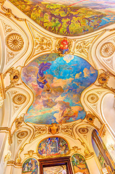 Exuberance Photograph - Fresco In Capitole The Toulouse by Semmick Photo