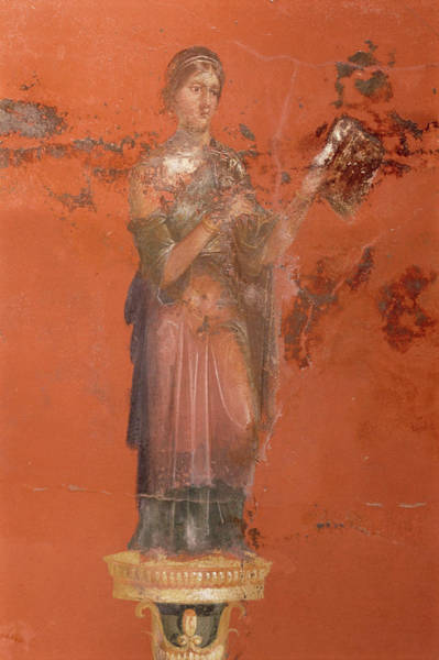 Pasquale Photograph - Fresco Of The Muse Clio by Pasquale Sorrentino/science Photo Library