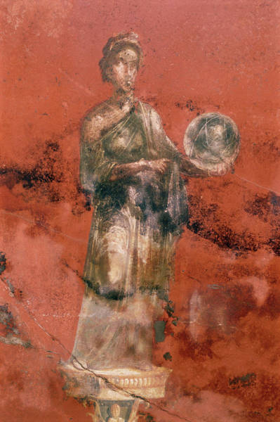 Wall Art - Photograph - Fresco Of The Muse Urania by Pasquale Sorrentino/science Photo Library