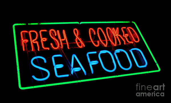 Seafood Photograph - Fresh And Cooked Seafood by Olivier Le Queinec