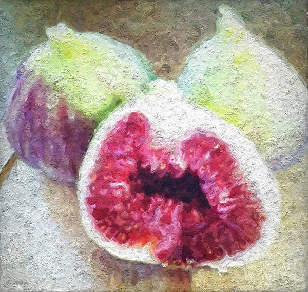 Still-life Painting - Fresh Figs by Linda Woods