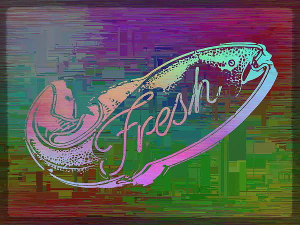 Wall Art - Digital Art - Fresh Fish Cubed by Tim Allen