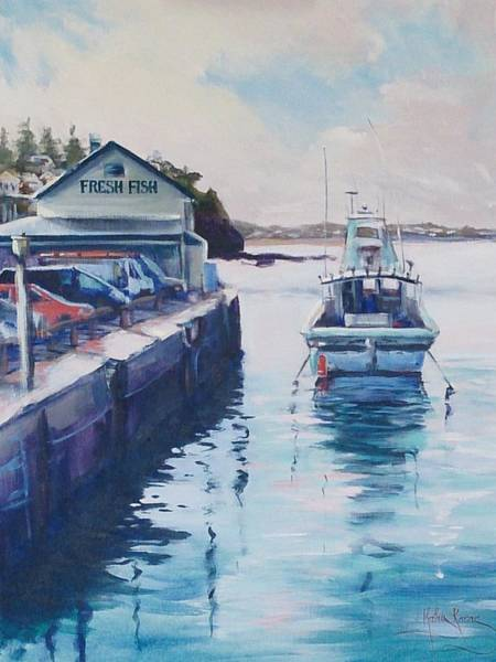 Painting - Fresh Fish For Tea by Kathy  Karas