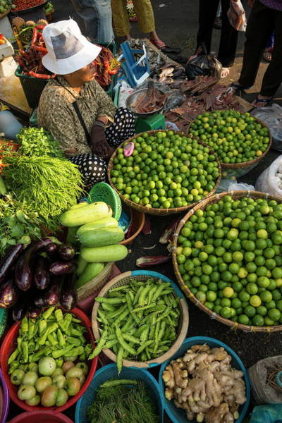 Phnom Penh Photograph - Fresh Fruit And Vegetables At Food by Ben Pipe / Robertharding