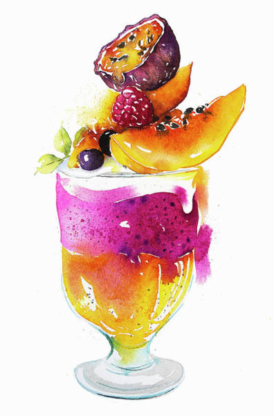 Wall Art - Painting - Fresh Fruit Trifle Dessert by Ikon Images
