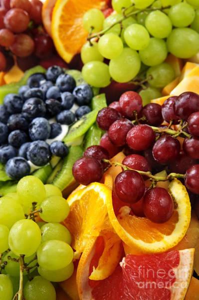 Platter Photograph - Fresh Fruits by Elena Elisseeva