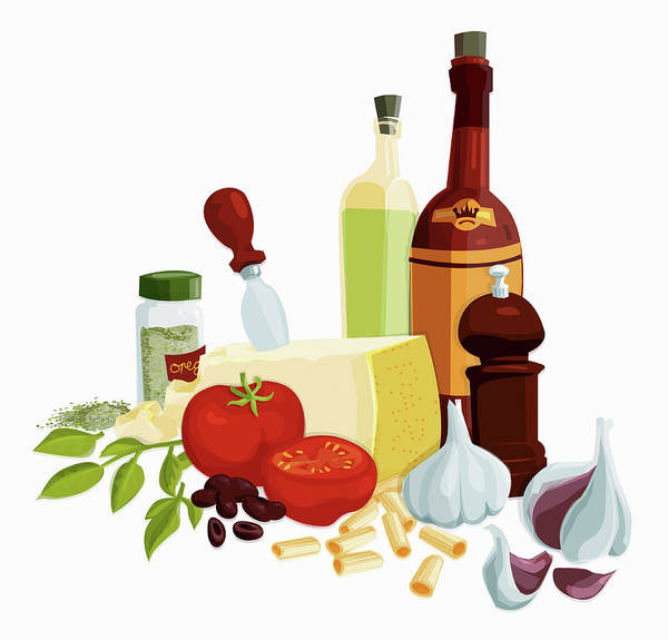 Exuberance Photograph - Fresh Italian Cooking Ingredients by Ikon Ikon Images