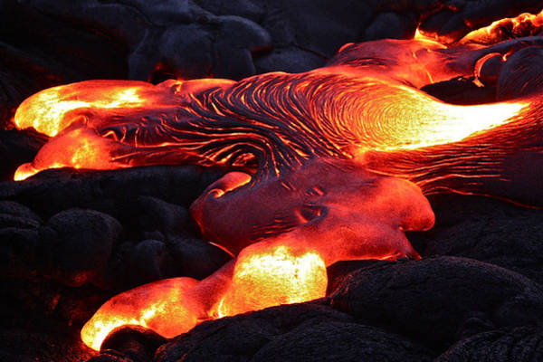 Liquify Photograph - Fresh Lava Flow by Venetia Featherstone-Witty