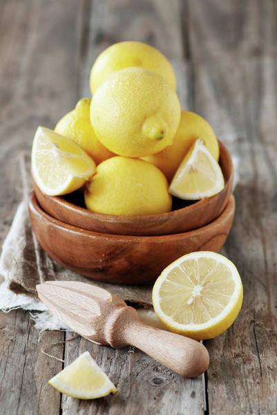 Lemon Photograph - Fresh Lemons by Oxana Denezhkina